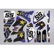 Kit Adesivo Moto Cross Trilha Yamaha Yz 125 250 2001 Mt001