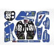 Kit Adesivo Moto Cross Trilha Yamaha Yz 400 2001 Mt012