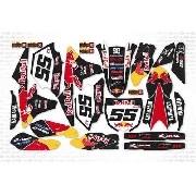 Kit Adesivo Moto Cross Trilha Yamaha Yz 250 450 2014 Mt024