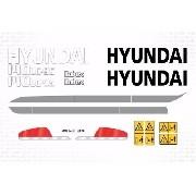 Kit Adesivos Hyundai 140 Lc95 140lc 95 140lc-95