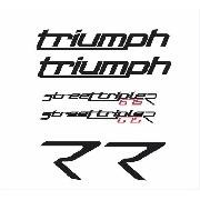 Kit Adesivos Triumph Street Triple 675 R 2015 Branca St008