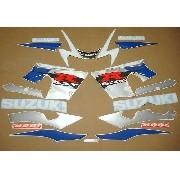 Kit Adesivos Suzuki Gsxr 1000 2002 Azul E Branca Sz100002ab