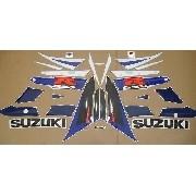 Kit Adesivos Suzuki Gsxr 1000 2004 Azul E Branca 10004ab