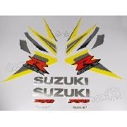 Kit Adesivo Suzuki Gsxr 750 2006 Amarela E Preta 75006am