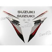 Kit Adesivo Suzuki Gsxr 750 2009 Branca E Prata 75009bp