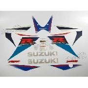 Kit Adesivo Suzuki Gsxr 750 2007 Azul E Branca 75007az