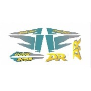 Kit Adesivos Suzuki Dr 800 Dr800 1996 Preta E Verde Dr014