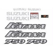 Kit Adesivos Suzuki Katana 750 Vermelha Ktn001