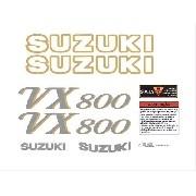 Kit Adesivos Suzuki Vx800 Vx 800 Preta Vx002
