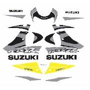 Kit Adesivos Suzuki Gsxr 750 2000 Amarela E Preta 75000am