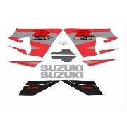 Kit Adesivos Suzuki Gsxr 750 2004 Preta E Vermelha 75004pp