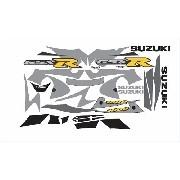 Kit Adesivos Suzuki Gsxr 1000 2001 Preta E Prata Sz100001pp