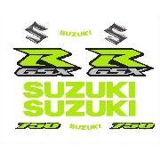Kit Adesivos Suzuki Gsxr 750 Amarelo Florescente Floram01