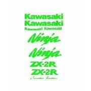 Kit Adesivos Kawasaki 250r Zx-2r Verde Kawasaki Kit001