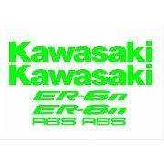 Kit Adesivos Kawasaki Er-6r Verde Kawasaki Kit005