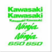 Kit Adesivos Kawasaki Ninja 650 Verde Kawasaki Kit007