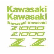 Kit Adesivos Kawasaki Z1000 2013 Amarelo Fluorescente Kit014