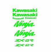 Kit Adesivos Kawasaki Zx-2r 250r Verde Kawasaki Kit021