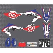 Kit Adesivo Moto Cross Trilha Bmw G450x Tricolor 0,20mm