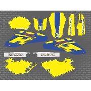 Kit Adesivo Moto Trilha Husqvarna Te570 2002 0,20mm 008