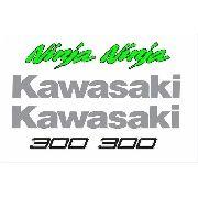 Kit Adesivo Kawasaki Ninja 300 Branca Nj003