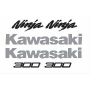 Kit Adesivo Kawasaki Ninja 300 Preta Nj005