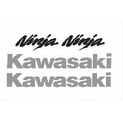 Kit Adesivo Kawasaki Ninja 300 Cinza Nj011