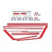 Kit Adesivos Kawasaki Ninja Zx-10 1989 Preta Zx1086p1