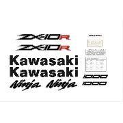 Kit Adesivos Kawasaki Ninja Zx-10r 2012 Preta Zxpta05
