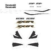 Kit Adesivos Kawasaki Ninja Zx-6r 2002 Prata Zxr02pr