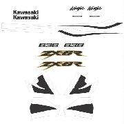 Kit Adesivos Kawasaki Ninja Zx-6r 2002 Verde Zxr02vd
