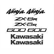 Kit Adesivos Kawasaki Ninja Zx-6r 2012 Vermelha Zx612ve