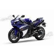Kit Adesivos Yamaha R1 2010 Azul E Preta R110az