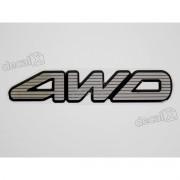 Adesivo 4wd Mitsubishi Pajero Resinado 3,5x17 Cms