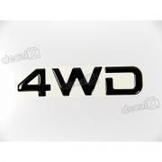 Adesivo 4wd Resinado Mitsubishi Pajero 2,5x11 Cms