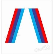 Adesivo Bmw Faixa Tricolor Paralama Decalx