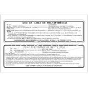 Adesivo Caixa De Transferencia Pajero Sport