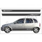 Adesivo Chevrolet Corsa Faixa Lateral 3m Cm4001