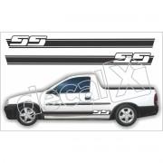 Adesivo Chevrolet Corsa Pick-up Faixa Lateral 3m Cpu004
