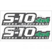Adesivo Chevrolet S10 4x4 Tubo Eletronic 2009 A 2011 S10004