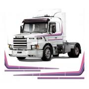 Adesivo Decorativo Faixa Lateral Scania 113 Roxo 94-98 Cm07