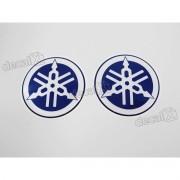 Adesivo Emblema 3d Resinado Logo Tanque Yamaha Azul 2,5x2,5