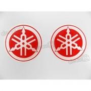 Adesivo Emblema 3d Resinado Logo Tanque Yamaha Vermelho 6x6
