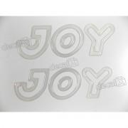 Adesivo Emblema Joy Celta Classic Corsa Resinado Prata Par