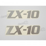 Adesivo Emblema Kawasaki NINJA ZX10 Cinza