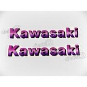 Adesivo Emblema Kawasaki Rosa Par Ros02