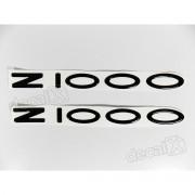 Adesivo Emblema Kawasaki Z1000 Preto
