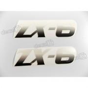 Adesivo Emblema Kawasaki Zx-6 Preto Par Zx6b
