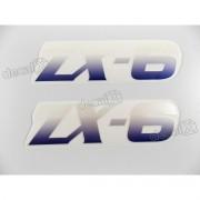 Adesivo Emblema Kawasaki Zx-6 Roxo Par