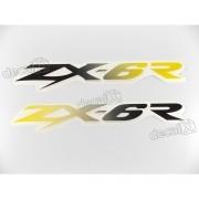 Adesivo Emblema Kawasaki Zx-6r Par Zx6r11